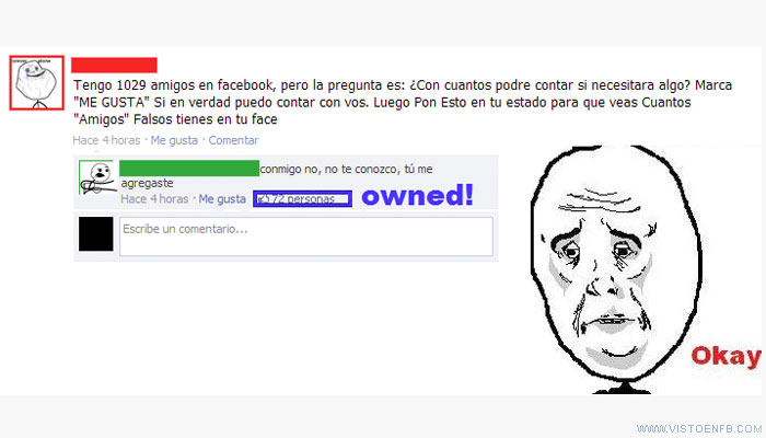 amigos,forever alone,me gusta,owned