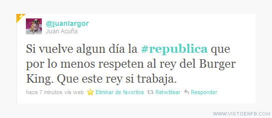 Burger King,república,rey,tweet
