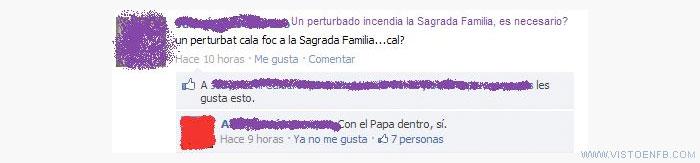 incendio,papa,sagrada familia
