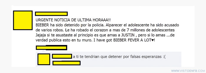 bieber,facebook,falsas esperanzas,justin bieber,zasca