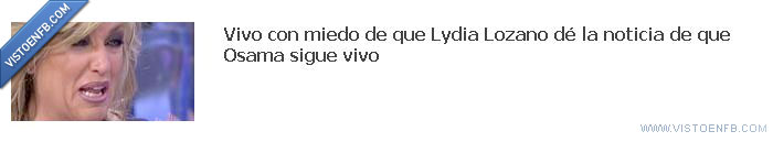 Bin Laden,Facebook,Lydia Lozano,Telecinco,televisión