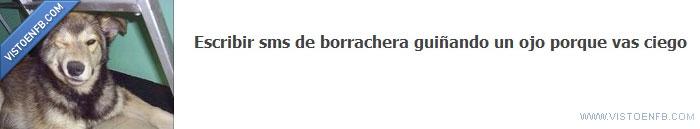 borracho,móvil,ojo,sms