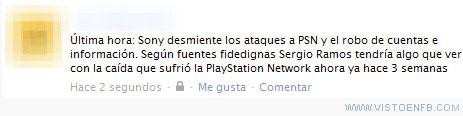 PlayStation Network,PSN,Sergio Ramos,Sony