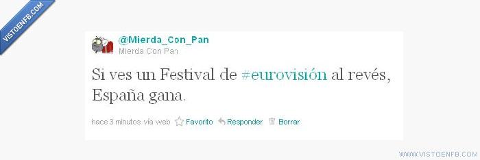 al revés,backwards,España,Eurovisión