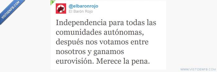 Baronrojo,España,Eurovision,Twitter