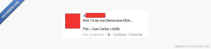 democracia,estado,facebook,juan carlos,manifestaciones,real,reyes,sofía,ya