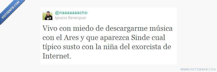 ares,descargas,exorcista,ley sinde,sinde