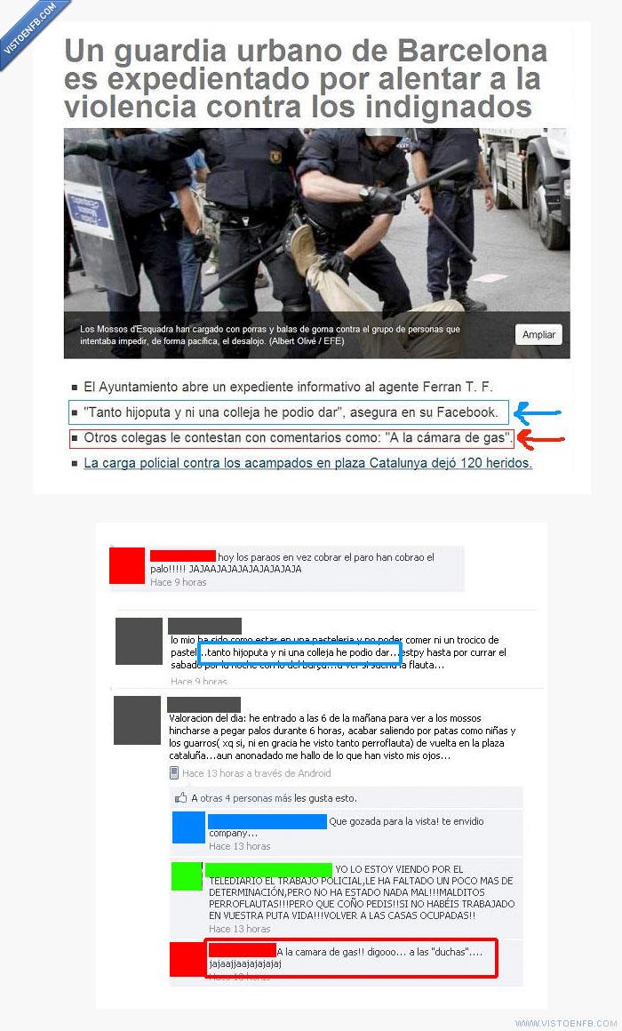 15m,Barcelona,mossos d'esquadra,sinvergüenzas