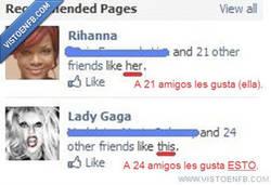 Enlace a Lo que Facebook piensa de Gaga