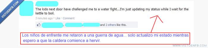 Agua,guerra,hirviendo,niños