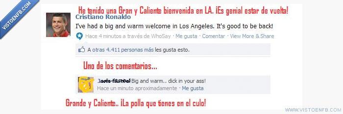Cristiano ronaldo,facebook,futbol,LA