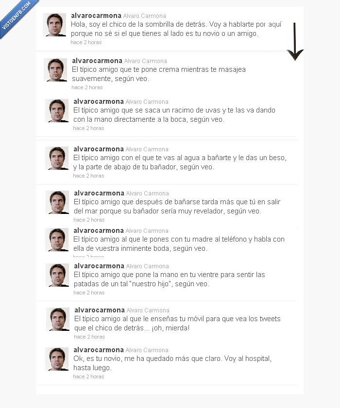 álvaro carmona,novio,twitter