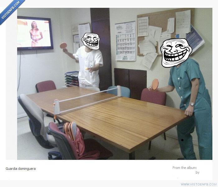 funcionarios,médicos,ping pong,tenis de mesa
