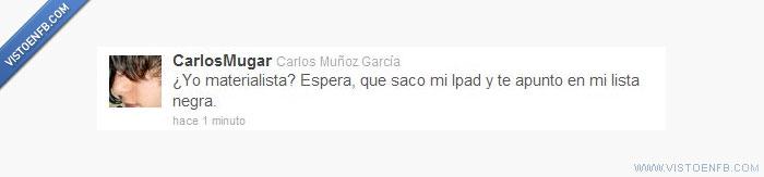 CarlosMugar,ipod,twitter
