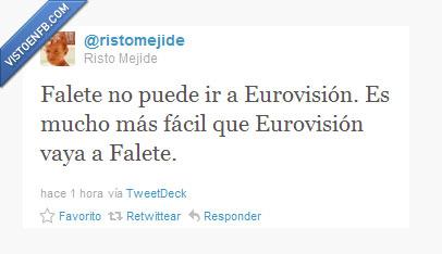 Eurovisión,Falete,Mejide,Risto,Twitter