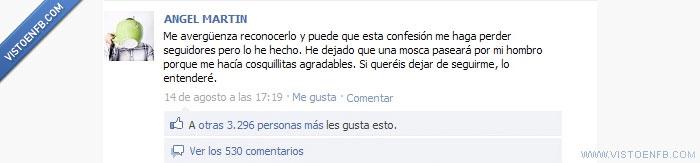 Ángel Martín,cosquillitas,hombro,mosca