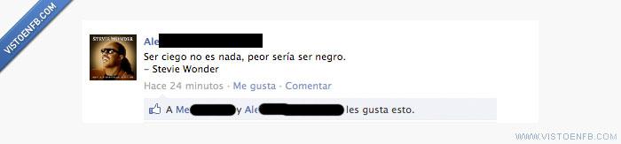 ironia,negro,no racismo,stevie wonder