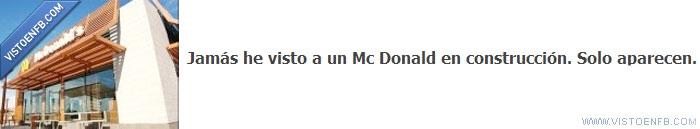 aparecer,construcción,Mc Donalds