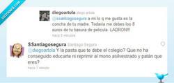 Enlace a Santiago Segura también hace zascas en twitter