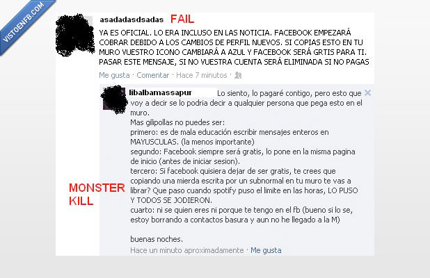 de pago,Facebook,fail,gente,tonta,win
