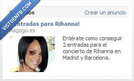 Facebook,ojo morado,Rihanna