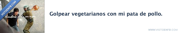 golpear,pata de pollo,vegetarianos