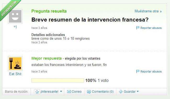 francesa,intervención,resumen
