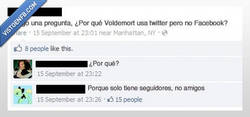 Enlace a Facebook vs twitter