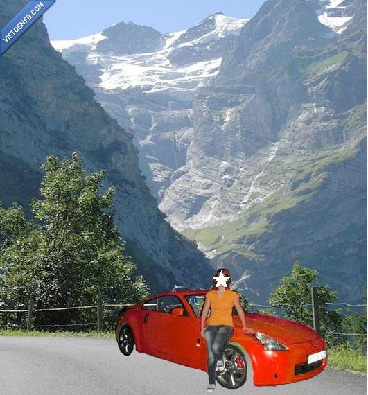 coche,monte,photoshop