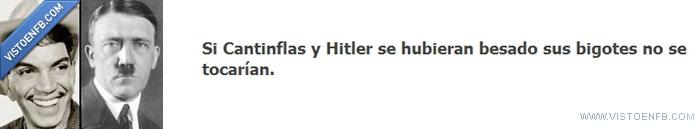 beso,bigote,cantinflas,hitler,pagina facebook