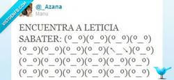 Enlace a Encuentra a Leticia Sabater