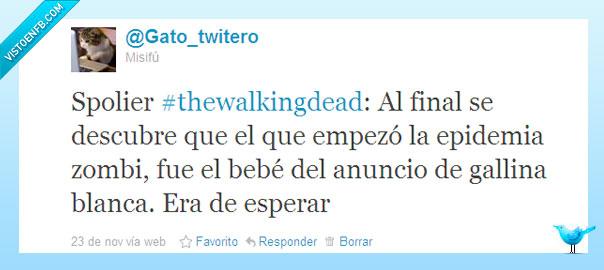 anuncios,bebe,diversión,gallina blanca,humor,no spolier,ocio,series,sopa,spolier,televisión,the walking dead,zombi