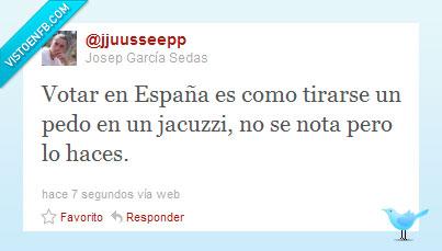 elecciones,España,jacuzzi,nada,no,nota,partido,pedo,popular,psoe,se,twitter,votar