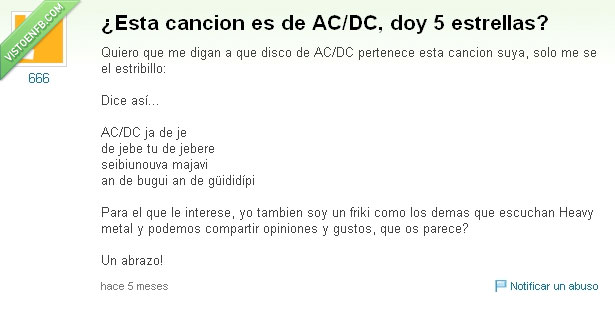 AC/DC,Las Ketchup,subnormales everywhere