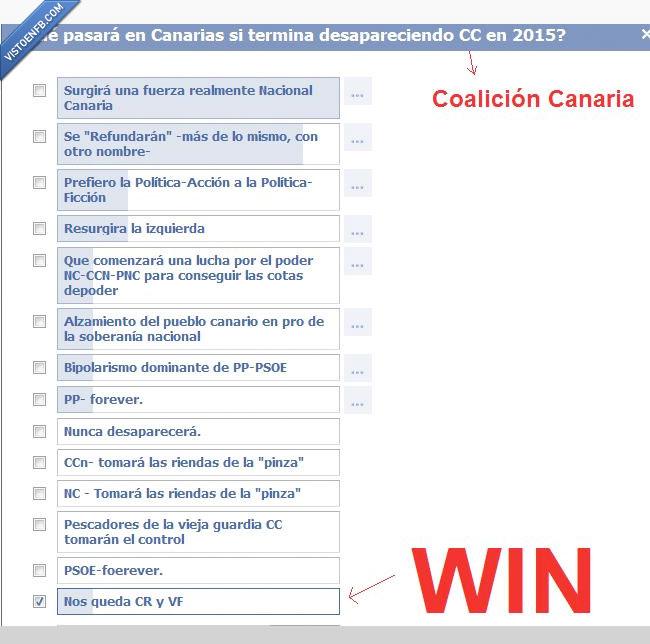 Coalición Canaria,Cuanto Cabrón,Encuesta,Facebook
