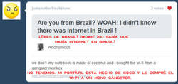 Enlace a Brasil y Internet