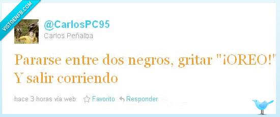 carlospc95,correr,negro,oreo,tweet,twitter