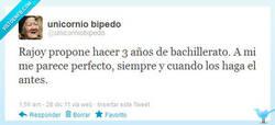 Enlace a Rajoy y el bachillerato por @unicorniobipedo