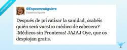 Enlace a Despiojar gratis con médicos sin fronteras por @espeonzaAguirre