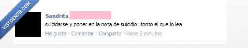 nota,suicidio,tonto el que lo lea
