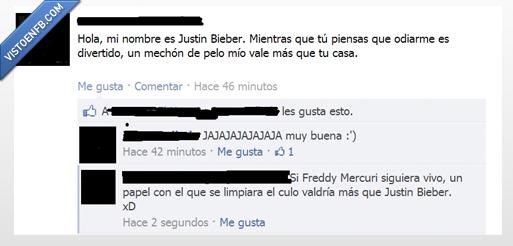 freddie mercury,Justin Bieber