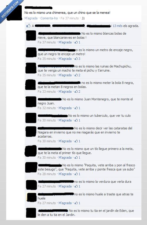 Facebook,Frases,No es lo mismo