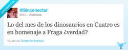 Enlace a Fraga el dinosaurio por @Sinconectar