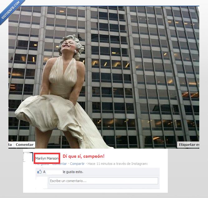 estatua,fail,Marilyn Manson,Marilyn Monroe,tontaco