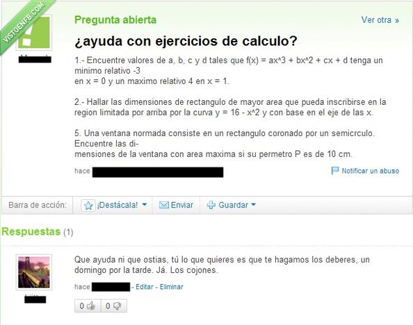 ayuda,deberes,fail,matemáticas,Yahoo respuestas