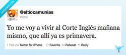 Enlace a Me mudo al Corte Inglés por @eltiocamunias