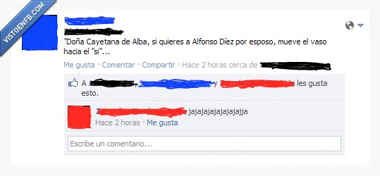 Alfonso Díez,Duquesa de Alba,ouija