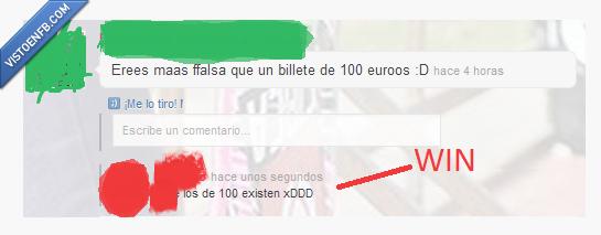 100 euros,billete,existen,falsa,win