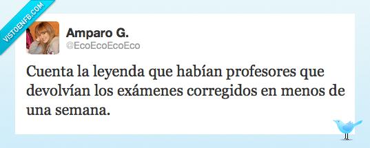 corregir,exámenes,Leyenda,menos,profesores,semana,twitter