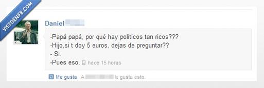 papa,politicos,ricos